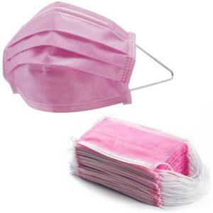 50 PZ. Maschere Rosa usa e getta per il Viso